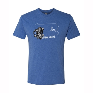Drink Local Shirt Blue